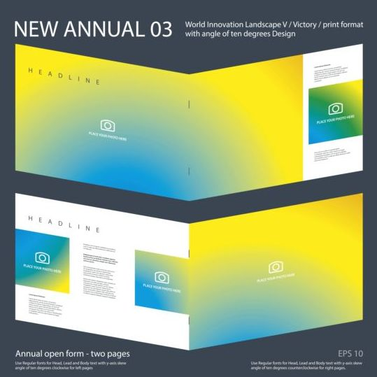New Annual Brochure design layout vector 03 new layout design brochure Annual