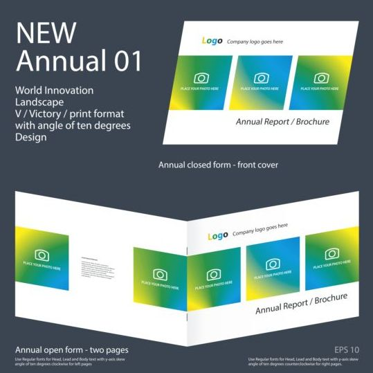 New Annual Brochure design layout vector 01 new layout design brochure Annual