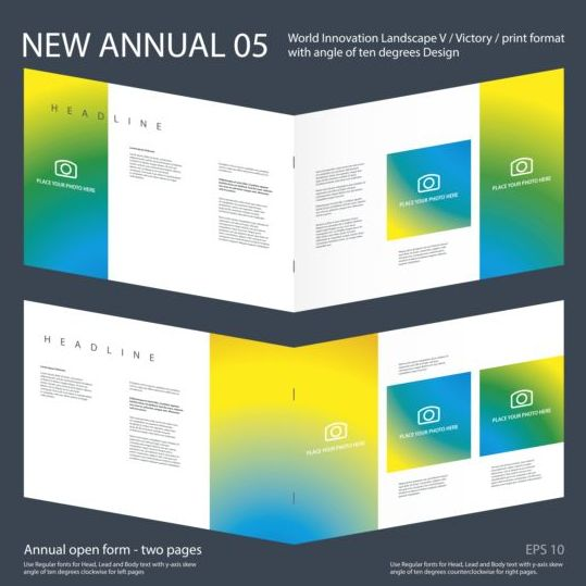 New Annual Brochure design layout vector 05 new layout design brochure Annual