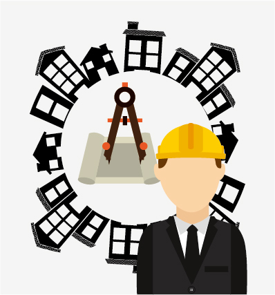 Under construction warning background vector set 02 warning Under construction background