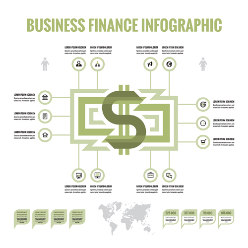 Business finance infographic vector 03 infographic finance business