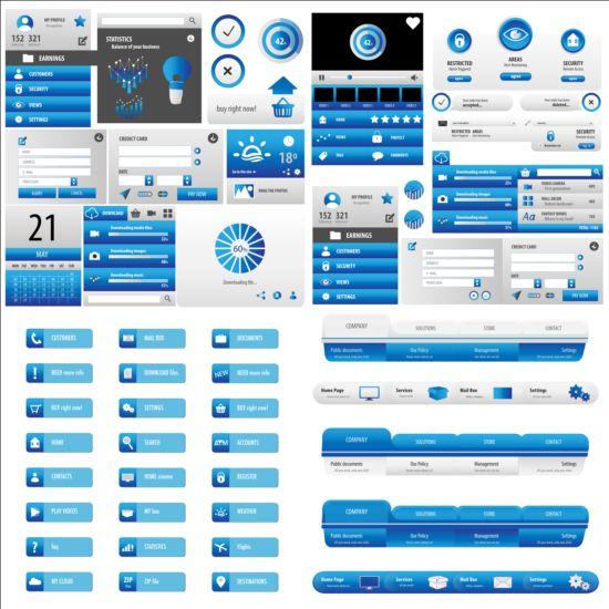 User interface statistics vectors kit user statistics interface