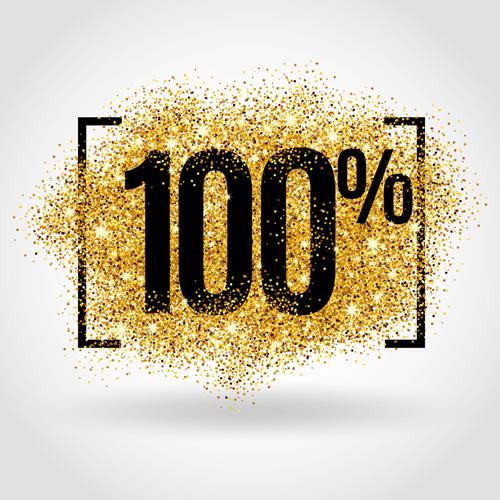 Golden discounts poster vector graphic 03 poster graphic golden discounts
