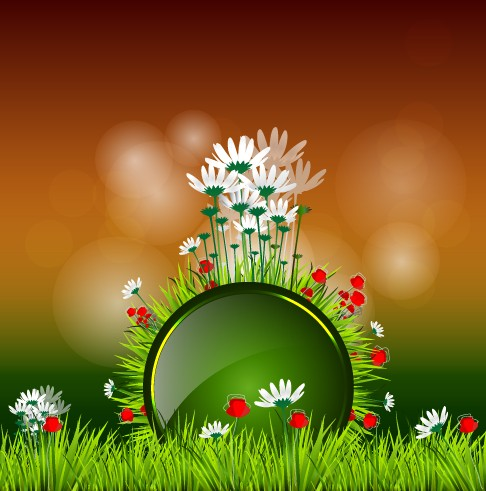 Shiny spring elements vector background graphic 05 Vector Background vector spring shiny background