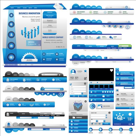 New blue button vector material new button blue
