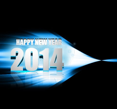 Abstract 2014 New Year vector background 03 Vector Background new year new 2014