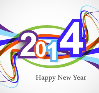 Abstract 2014 New Year vector background 01 new year new background 2014