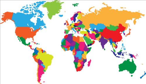 Simple color world map vector 01 gooloc free eps file simple color world map vector 01 download name simple color world map vector 01 license creative commons attribution 30 gumiabroncs Image collections