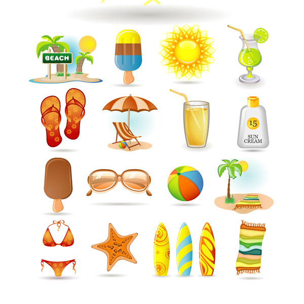 Summer icon vector vector vector summer icon