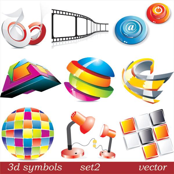 3D icon vector vector 148057 vector three-dimensional icon