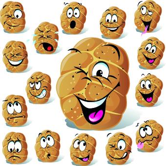 02qbiyjillvtg54 Funny Cartoon food expression vector 01