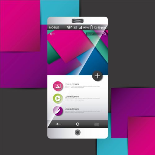 Mobile interface template vector material 10 template mobile interface