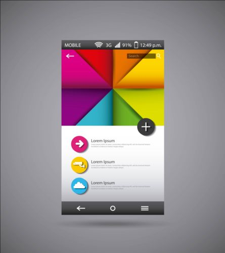 Mobile interface template vector material 09 template mobile interface