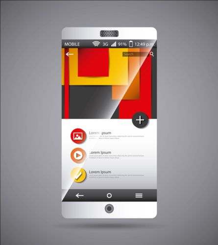 Mobile interface template vector material 07 template mobile interface