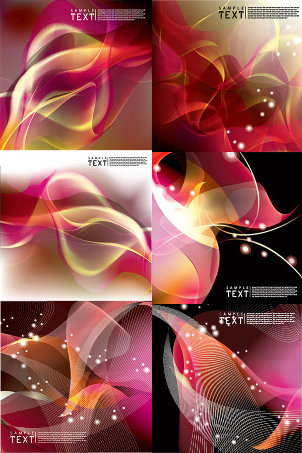Beautiful dynamic background vector vector Line Drawing light halo dynamic dazzling colorful beautiful background