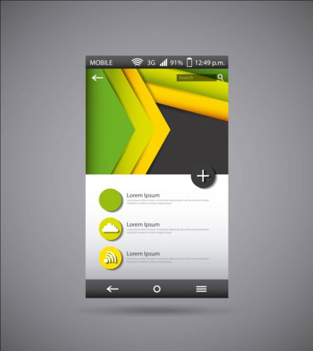 Mobile interface template vector material 03 template mobile interface