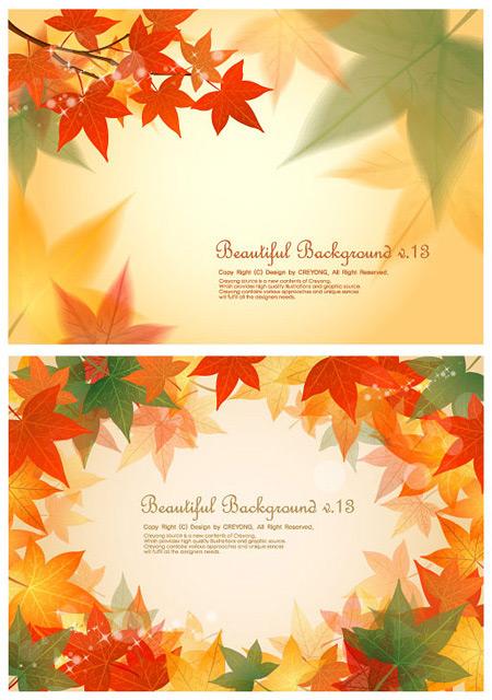 Maple leaf background design vector vector red leaves material background autumn leaves autumn